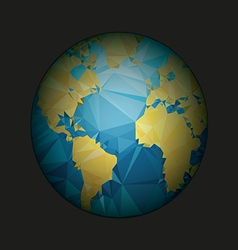 Earth World map Low poly vector image