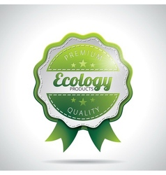 Ecology Product Labels with shiny styled design vector image