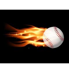 fire baseball vector image vector image