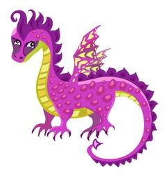 sad dragon vector image vector image