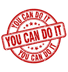 You can do it red grunge round vintage rubber vector