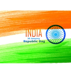 Indian republic day flag design made with color vector