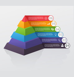 infographic multilevel pyramid with numbers vector image vector image