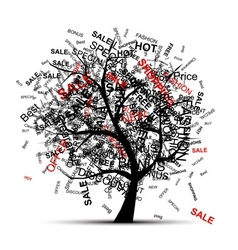 Shopping tree concept for your design vector image