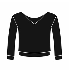 Womens pullover icon simple style vector image vector image