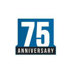 75th anniversary icon birthday logo vector image
