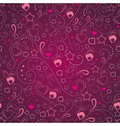 Abstract background with hearts and stars vector