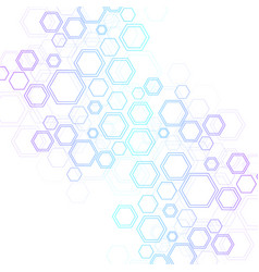Abstract hexagonal background hexagonal molecular vector