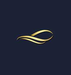 abstract wave gold logo vector image