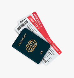 airline tickets and passport vector image