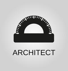architect icon architect symbol flat design vector image