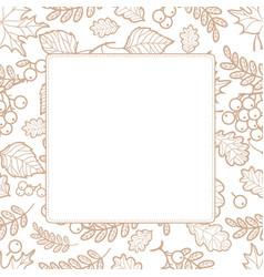 Autumn leaf ornamental frame vector