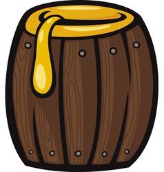 Barrel honey clip art cartoon vector