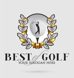 Best-of-golf vector