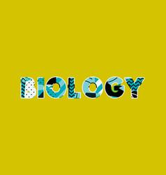 Biology concept word art vector