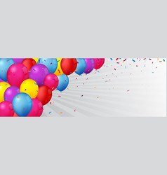 Birthday and celebration banner with colorful vector