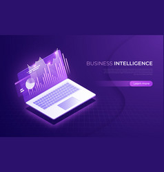 business intelligence financial performance data vector image