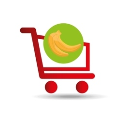 Carry buying banana fruit icon graphic vector