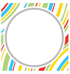 cartoon and colorful circle frame vector image