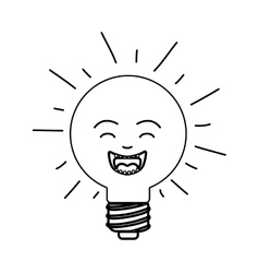 Cartoon bulb light vector
