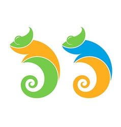 Chameleon Logo vector image