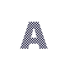 checker pattern logo letter a vector image
