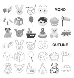 Children toy monochrom icons in set collection for vector