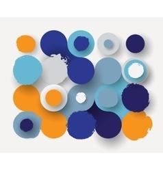Circles flat background vector image