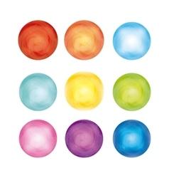 Circles icon Watercolor design graphic vector
