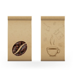 Coffee beans in package vector