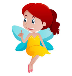 cute girl in fairy costume vector image