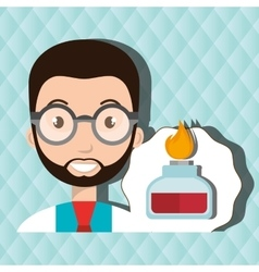 Doctor laboratory tube chemistry vector