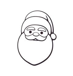 doodle santa claus with contour vector image