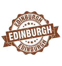 Edinburgh round ribbon seal vector