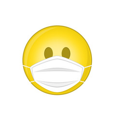emoji with medical mask vector image