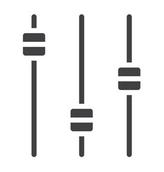 Equalizer glyph icon web and mobile audio sign vector