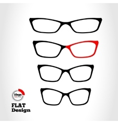 Eye glasses set optical glass appliance vector