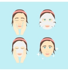 Facial Sheet Mask vector image