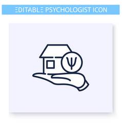 Family psychologist line icon editable vector