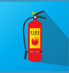 Fire extinguisher icon is isolated on a blue vector