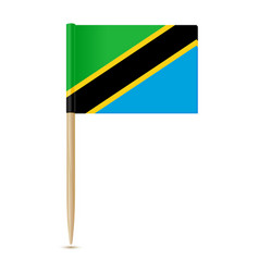 flag of tanzania flag toothpick vector image