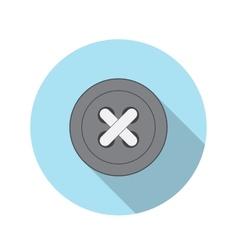 Flat design concept button icon with long sh vector