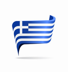 Greek flag map pointer layout vector