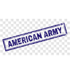 Grunge american army rectangle stamp vector