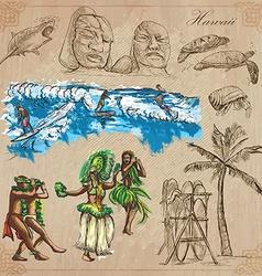 Hawaii - Travel An hand drawn pack vector