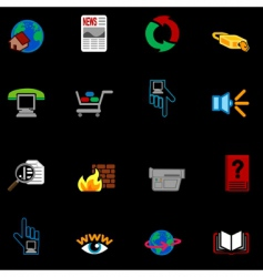 internet web icons vector image