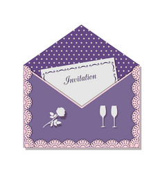 invitation card for a romantic meeting decorated vector image