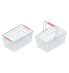isometric chrome plated wire metal double handles vector image