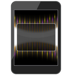 Layout phone with a glass interface vector