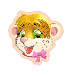 Leopard face vector